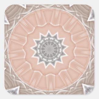 Colored Kaleidoscope Square Sticker