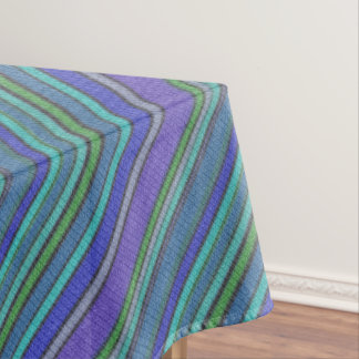 Colored knitting Stripes seamless pattern 2 Tablecloth