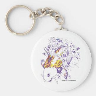 Colored Koi Fish Keychain