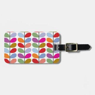 Colored Leaf Art Luggage Tag