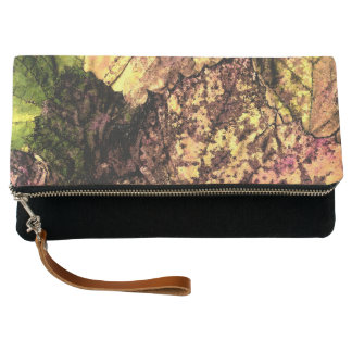 Colored Leaves Clutch Bag