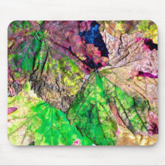 Colored Leaves Mouse Pad