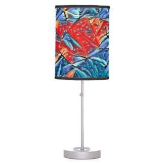 COLORED LIGHTS TABLE LAMP