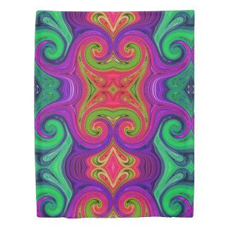 Colored Line Spectrum Duvet Cover