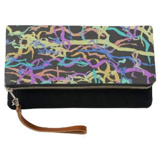 Colored Lines Clutch Bag