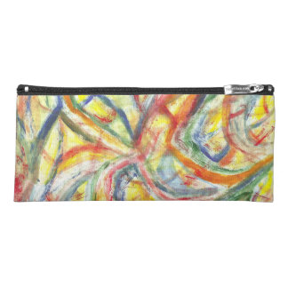 Colored Lines Pencil Case