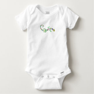 colored lizard Tribal Baby Onesie