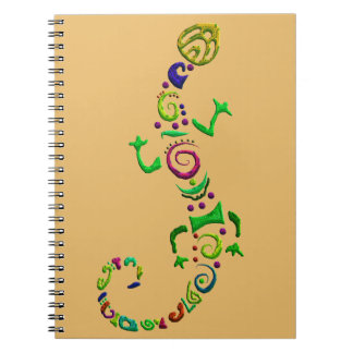 colored lizard Tribal Notebook