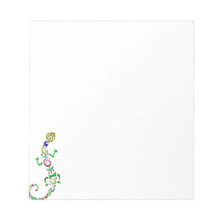 colored lizard Tribal Notepad