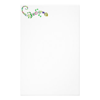 colored lizard Tribal Stationery