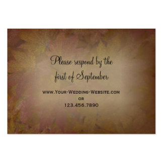 Colored Maple Leaves Wedding RSVP Response Card Business Card