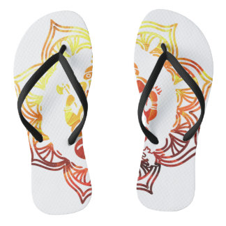 Colored Meditation Flip Flops