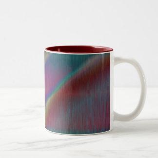 Colored Metal Abstract Lines Mug