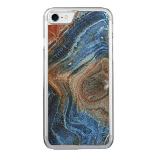 Colored Mineral Stone With Nacre Carved iPhone 7 Case