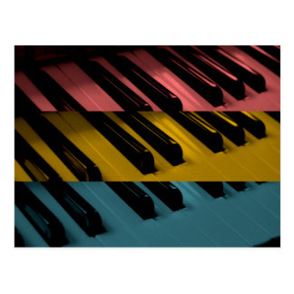 Colored Organ Keys Postcard