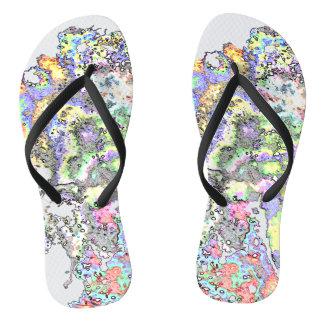 Colored Paint Flip Flops