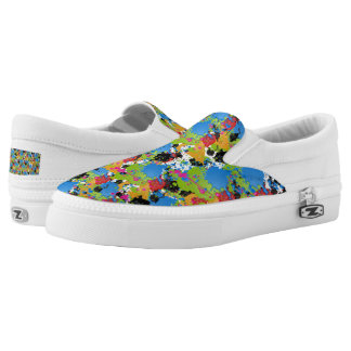 Colored Paint Splashes Slip-On Sneakers
