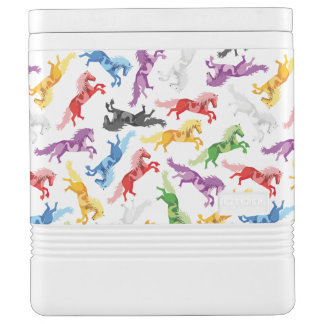 Colored Pattern jumping Horses