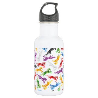 Colored Pattern jumping Horses 532 Ml Water Bottle