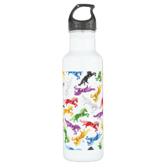 Colored Pattern jumping Horses 710 Ml Water Bottle