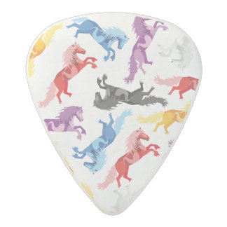 Colored Pattern jumping Horses Acetal Guitar Pick