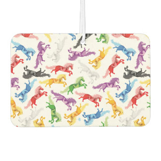 Colored Pattern jumping Horses Air Freshener