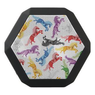 Colored Pattern jumping Horses Black Bluetooth Speaker