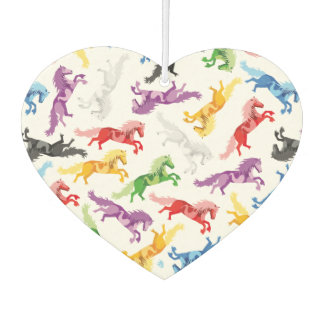Colored Pattern jumping Horses Car Air Freshener