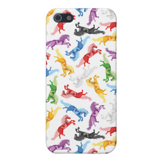 Colored Pattern jumping Horses Case For iPhone 5/5S