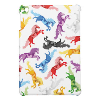 Colored Pattern jumping Horses Case For The iPad Mini