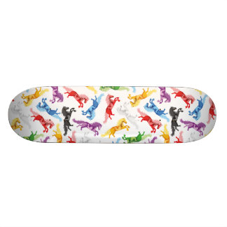 Colored Pattern jumping Horses Custom Skateboard