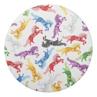 Colored Pattern jumping Horses Eraser