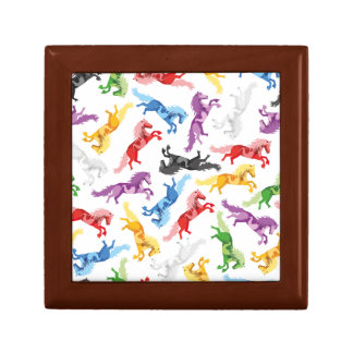 Colored Pattern jumping Horses Gift Box