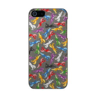 Colored Pattern jumping Horses Incipio Feather® Shine iPhone 5 Case
