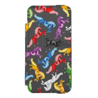 Colored Pattern jumping Horses Incipio Watson™ iPhone 5 Wallet Case