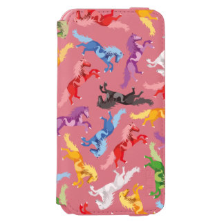 Colored Pattern jumping Horses Incipio Watson™ iPhone 6 Wallet Case