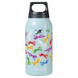 Colored Pattern jumping Horses Insulated Water Bottle