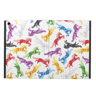 Colored Pattern jumping Horses iPad Air Cases
