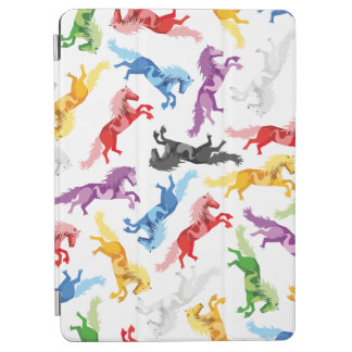 Colored Pattern jumping Horses iPad Air Cover