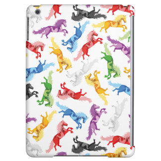 Colored Pattern jumping Horses iPad Air Covers