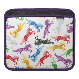 Colored Pattern jumping Horses iPad Sleeve