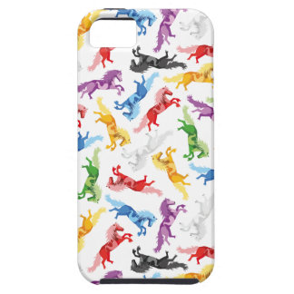 Colored Pattern jumping Horses iPhone 5 Cases
