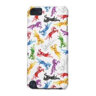 Colored Pattern jumping Horses iPod Touch 5G Cases