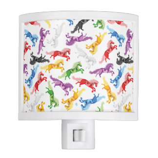 Colored Pattern jumping Horses Nite Lite