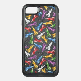 Colored Pattern jumping Horses OtterBox Commuter iPhone 7 Case