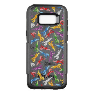 Colored Pattern jumping Horses OtterBox Commuter Samsung Galaxy S8+ Case
