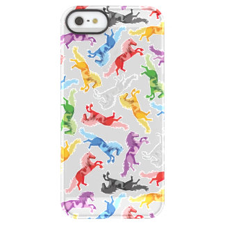 Colored Pattern jumping Horses Permafrost® iPhone SE/5/5s Case
