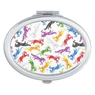 Colored Pattern jumping Horses Travel Mirrors