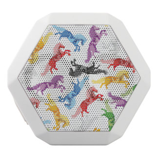 Colored Pattern jumping Horses White Bluetooth Speaker