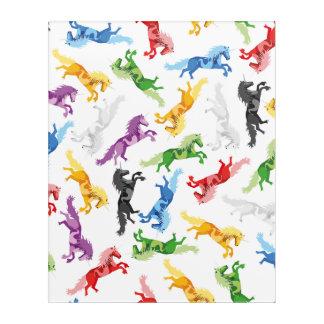 Colored Pattern Unicorn Acrylic Wall Art